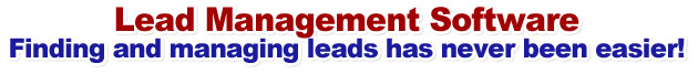 Lead Management Software: Finding and managing leads has never been easier!